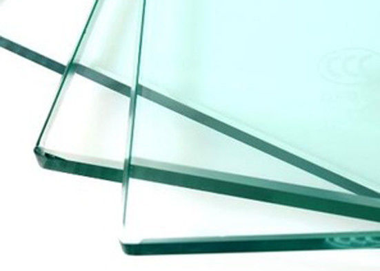 Size Customized Clear Tempered Glass , Safety White Float Glass ISO 9001 Approved